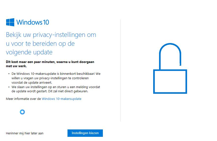 privacy instellingen windows 10