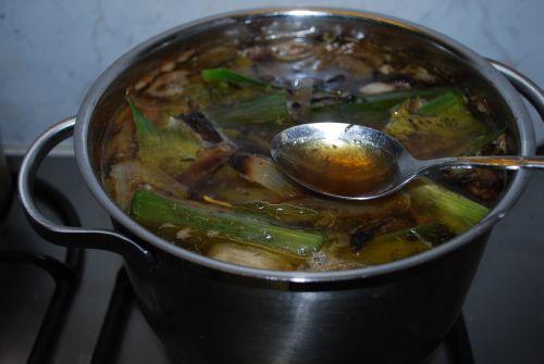 groentesoep met gesneden soepgroente
