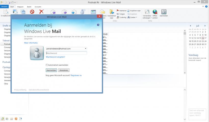 standaard account gmail wijzigen