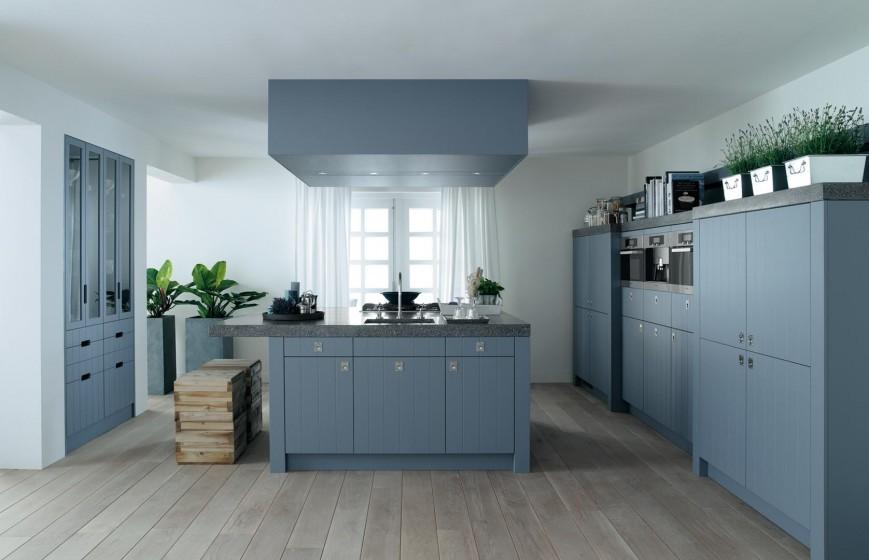 awesome grijze muur in de keuken with grijs blauwe muur